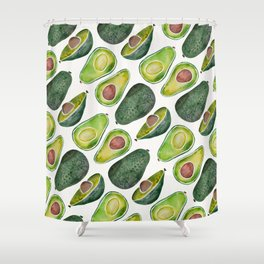 Avocado Slices Shower Curtain