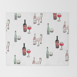 #DrinkWineDay Pattern Throw Blanket