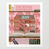 the royal tenenbaums Art Prints featuring The Royal Tenenbaums by Alan Segama