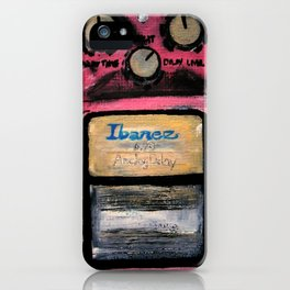 Ibanez AD-9 Analog Delay Guitar Pedal Acrylic Painting iPhone Case