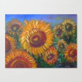 Vesper Sunflowers Canvas Print