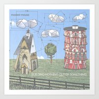 modest mouse Art Prints featuring Modest Mouse - Building Nothing Out of Something by NICEALB