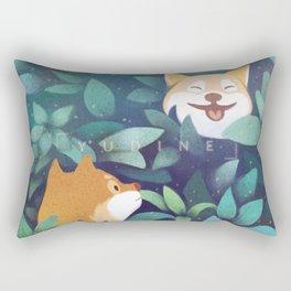 Leaf Doge Rectangular Pillow