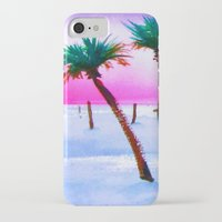 volleyball iPhone & iPod Cases featuring Beach Volleyball Sunset by sky愛