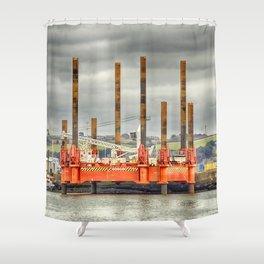 Wavewalker In Falmouth, Cornwall Shower Curtain