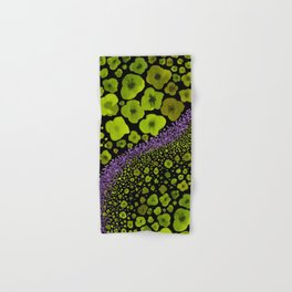 Paths of Color [green & purple] Hand & Bath Towel