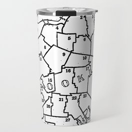 Brooklyn Vintage Map 1957  Travel Mug