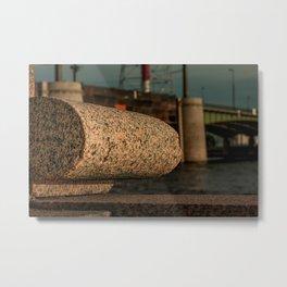 Granite of the Neva river, embankment (St. Petersburg, Russia) (2012-7SPB-G) Metal Print