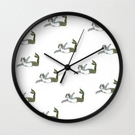 Mermaid Cat Motif Wall Clock