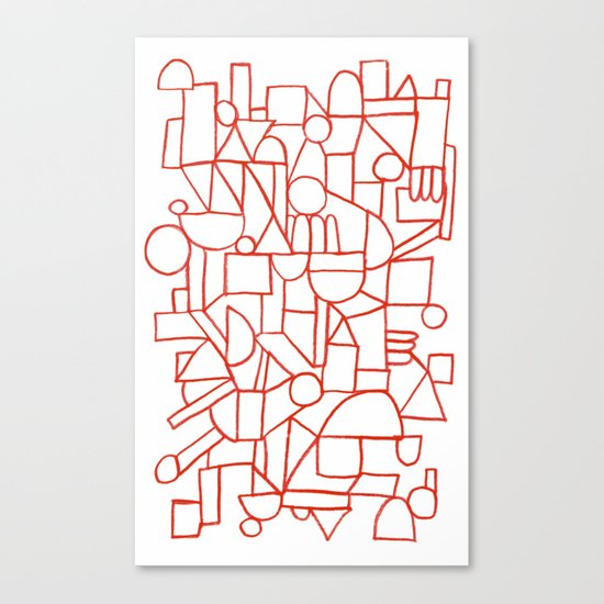 Rad lines Canvas Print