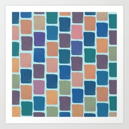 Colorful Blocks II Art Print