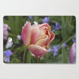 Tulip with soft orange colors I Dewdrops I Love I Photography I Fine art Cutting Board