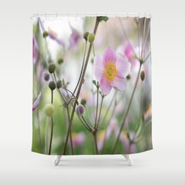Beauty Anemone flower pattern in pastel Shower Curtain