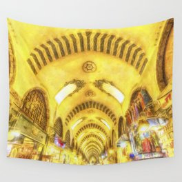 The Spice Bazaar Istanbul Art Wall Tapestry