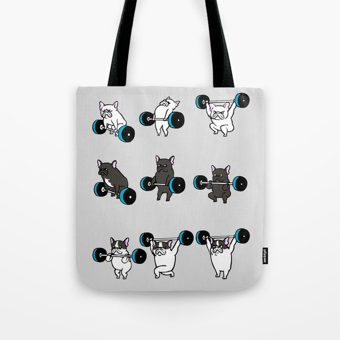 OLYMPIC LIFTING FRENCHIE Tote Bag