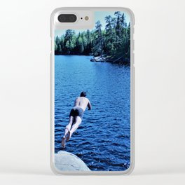 Boundary Waters Swimming Clear iPhone Case