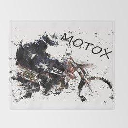Motox Racer Throw Blanket