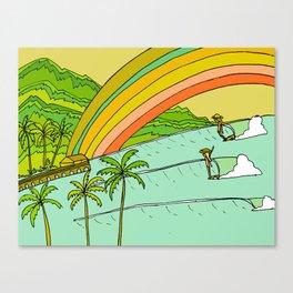 Surf Paradise Rainbow of Happiness Canvas Print