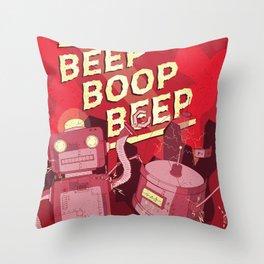 Beep Boop Beep Throw Pillow
