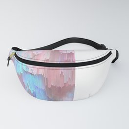 Pastel Glitches Fall Fanny Pack