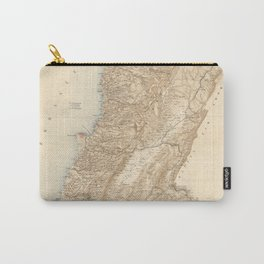 Vintage Map of Lebanon (1862) Carry-All Pouch