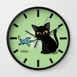 Talking with a bird Wall Clock