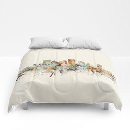 pittsburgh pennsylvania skyline Comforters
