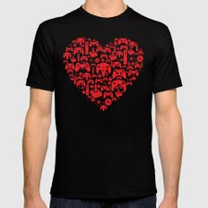 Gaming Love Black Mens Fitted Tee MEDIUM
