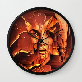 Red Medusa Wall Clock