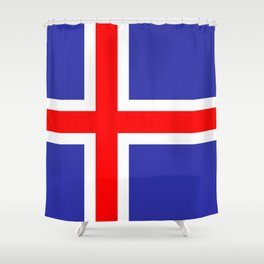 Iceland National Flag Shower Curtain