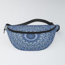 Sacred Blue Garden Mandala Fanny Pack