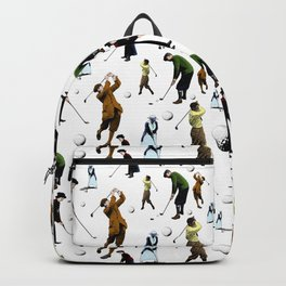Vintage Golfers Illustrations Random Pattern Backpack