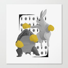 Tortoise & Hare | GRAYSCALE Canvas Print