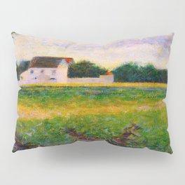 Landscape of the Ile de France Post-Impressionism landscape Oil Painting Countryside Cottages Farm Pillow Sham