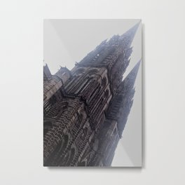 French City - Church at Clermont-Ferrand Metal Print