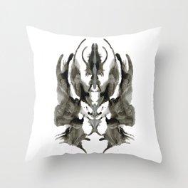 Rorschach Mask Throw Pillow