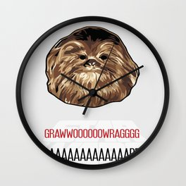 Chewbacca SW Poster Wall Clock