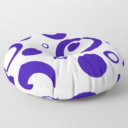 Circles Dots Bubbles :: Blueberry Inverse Floor Pillow
