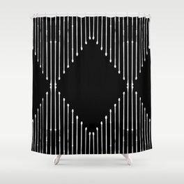 Geo / Black Shower Curtain