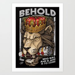 Behold The Conqueror Art Print