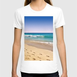 Footsteps in sand T-shirt
