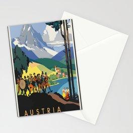 Vintage Poster Austria Stationery Cards