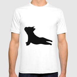 French Bulldog. Puppy Silhouette. Yoga Puppy T-shirt