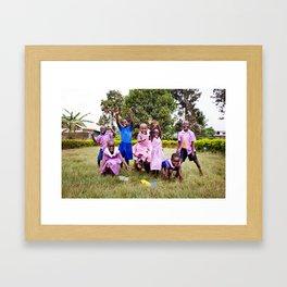 Happy children Framed Art Print