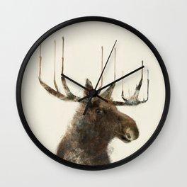 the moose Wall Clock