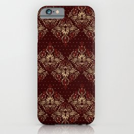 Persian Oriental pattern deep red and gold iPhone Case