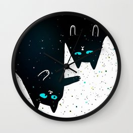 Space Cat Galaxy Wall Clock
