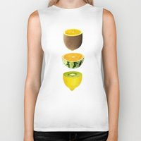 fruits Biker Tanks featuring Mixed Fruits by victor calahan