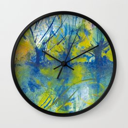 By the lake watercolor Wall Clock