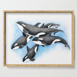 Orca Whales Pod Serving Tray